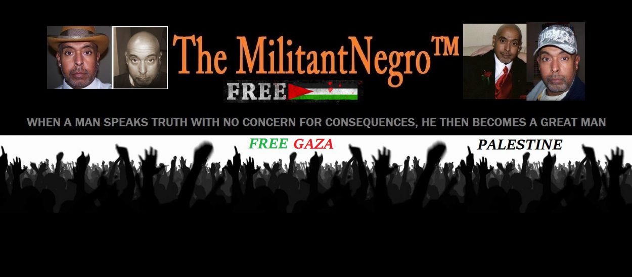 Visit The Militant Negro™! Free Palestine! -- Free Gaza! Blog Image
